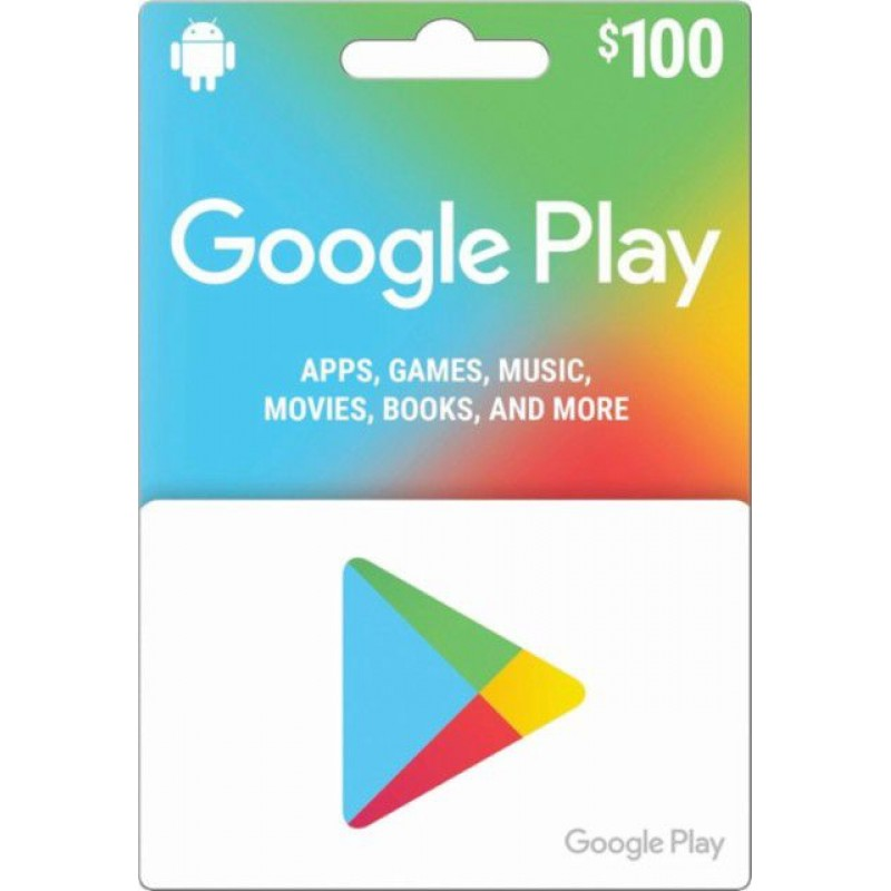 $100 Google Play Gift Card (US)