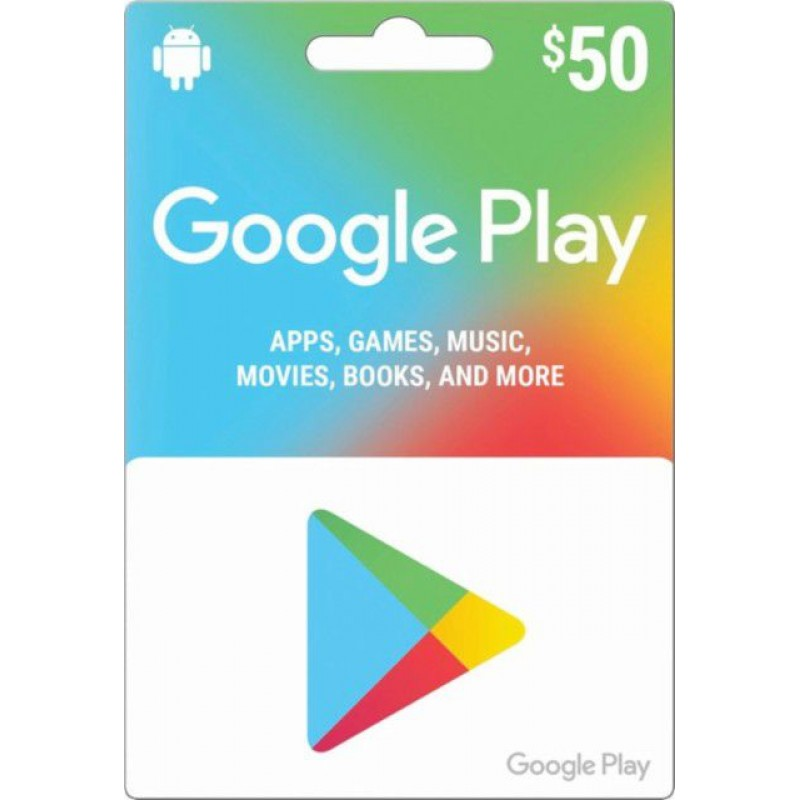 $50 Google Play Gift Card (US)