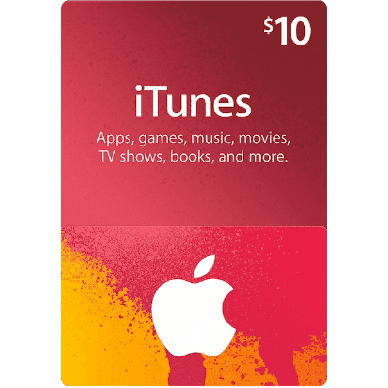 $10 Apple iTunes Gift Card (US | Scan)