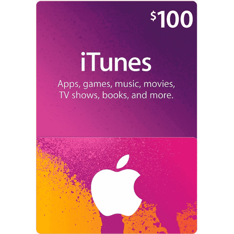 $100 Apple iTunes Gift Card (US | Scan)