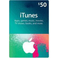 $50 Apple iTunes Gift Card (US | Scan)
